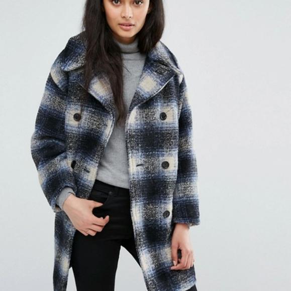 Ralph Lauren Denim Supply Plaid Big Wool Coat XL